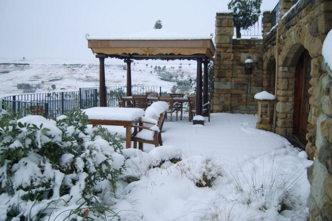 Winter Wonderland at Wild Horses Guest Lodge